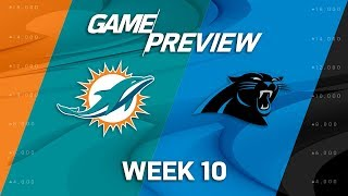 Miami Dolphins vs. Carolina Panthers | NFL Week 10 Game Preview | NFL Playbook