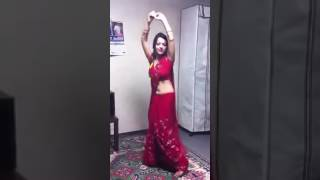 A. 1. dance teej 1 red saree dance