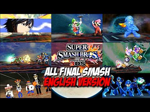 Super Smash Bros. for Nintendo 3DS - All Final Smashes - English Version