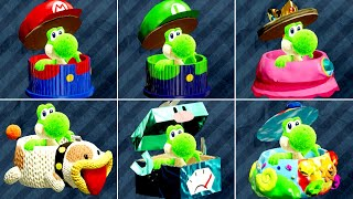 Yoshi's Crafted World - All Costumes