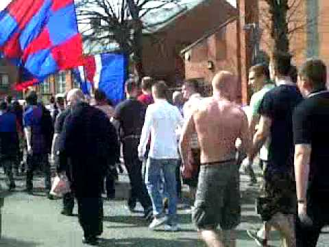 Crystal palace fc march to stadium