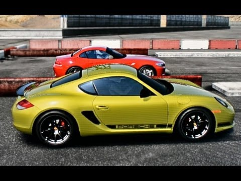 Porsche Cayman R vs BMW Z4 DRAG RACE!!!!