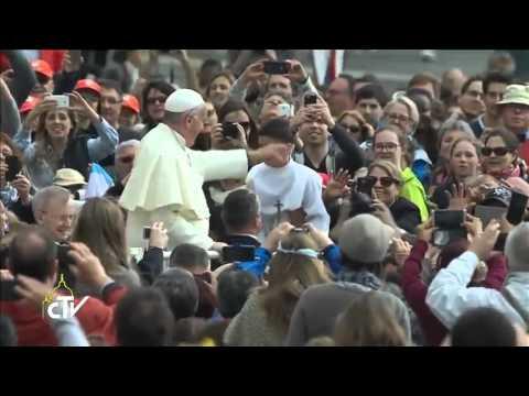 Gianluca Abela a Gozitian boy. The moment when he meet Pope Francis