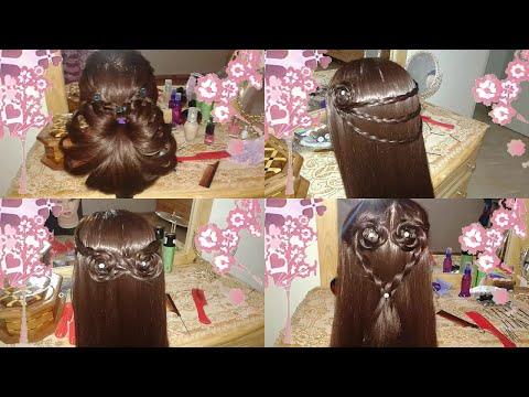 peinados faciles rapidos y bonitos con trenzas de moda para niña en cabello largo