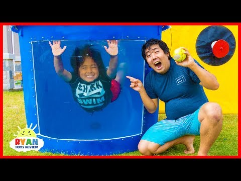 Dunk Tank Challenge Family Fun Games with Ryan ToysReview!!!
