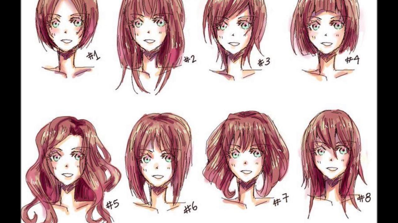 Прически в стиле аниме для девушек