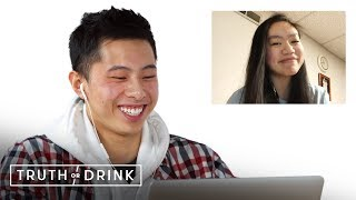 Couples in Long Distance Relationships Play Truth or Drink (Ryan & CJ) | Truth or Drink | Cut
