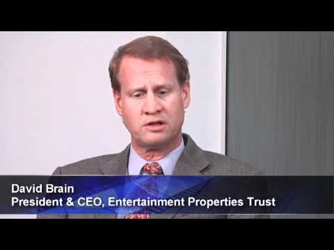 Entertainment Properties Prospers in Tough Times - REIT CEO Brain Sees Positive Impact of Downturn