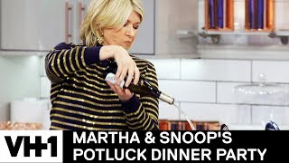 Martha Stewart Pours One Out For Julia Child 'Sneak Peek' | Martha & Snoop's Potluck Dinner Party