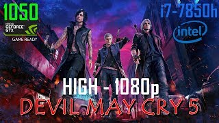 Devil May Cry 5 i7-7850h GTX 1050 HP OMEN 15 - High 1080p (Turbo Boost DISABLED)