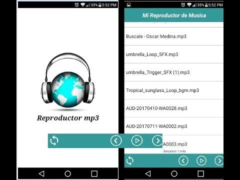 Reproductor mp3 App inventor Plantilla. Descargalo