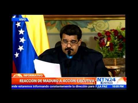 Maduro acusa a Obama de querer derrocarlo e intervenir Venezuela
