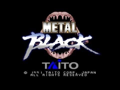 Metal Black 1991 Taito Mame Retro Arcade Games video
