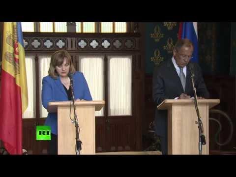 Пресс-конференция Сергея Лаврова и главы МИД Молдавии