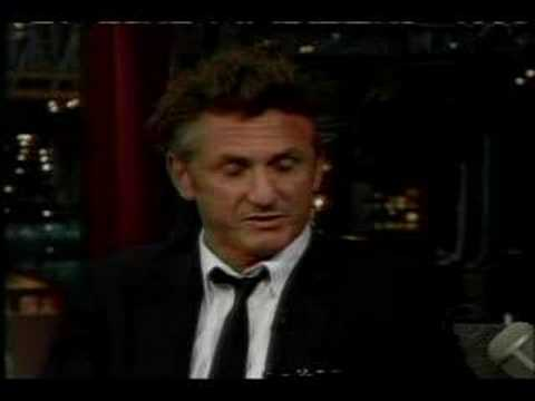Sean Penn on Letterman pt 1