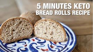 5-Minute Keto Bread Rolls Recipe [Keto, Paleo, Gluten-Free]