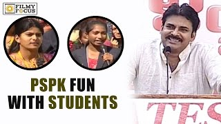 Pawan Kalyan Fun with Gates Students in Anantapur || Students Shocking Questions to PSPK