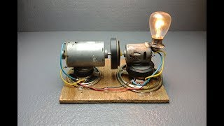 Science free energy Generator with speaker and dc motor