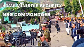 Home Minister entry with NSG Commandoes at Hornbill Festival in Nagaland, India