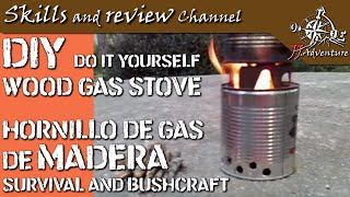 supervivencia / bushcraft. Hornillo de gas de madera.wmv