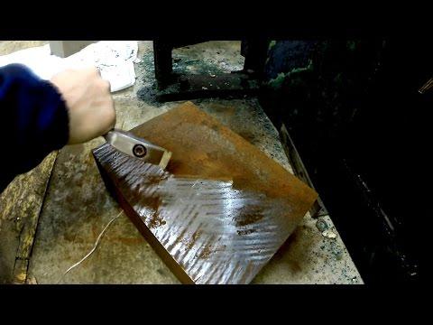 Самодельный шабер - как быстро зачистить ржавчину и краску