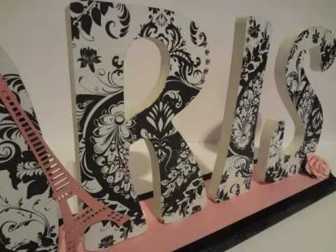 DIY Paris Word Plaque - YouTube