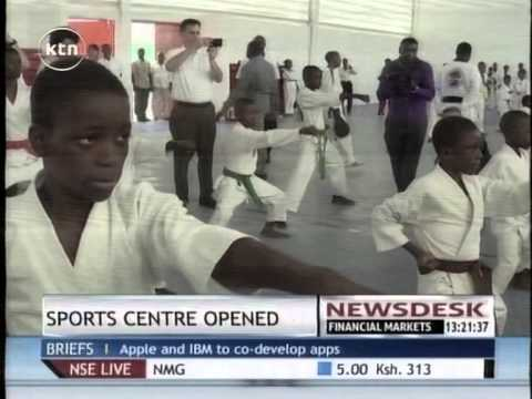 Thomas Bach, officially opened a Sports centre in Port-au-Prince, Haiti