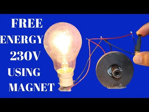 Free Energy Light Bulbs 230v For Life Time - Using magnet -  Free Energy Light Bulbs Using magnet thumbnail