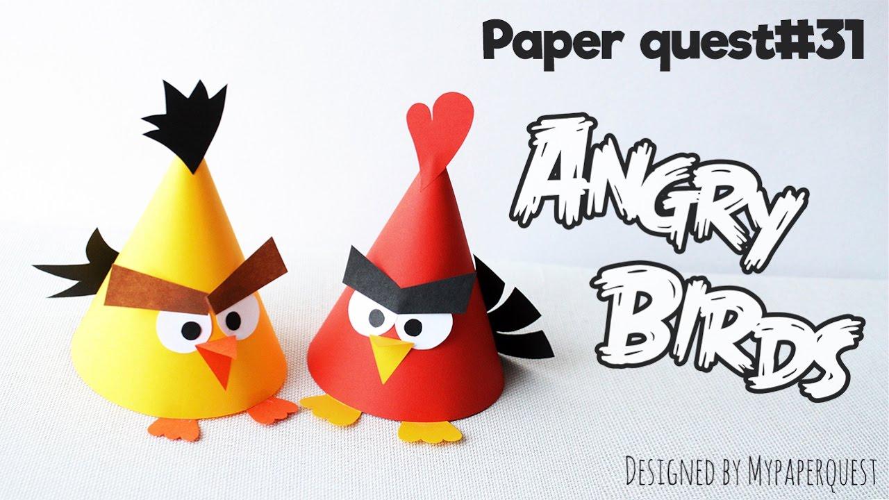 Как сделать с бумаги angry birds