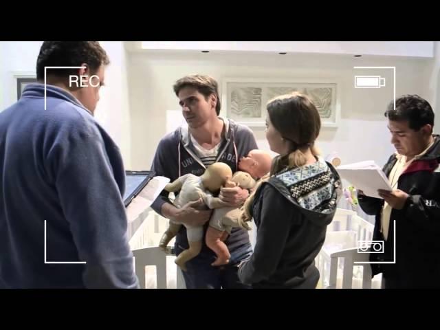 Telenovela La Gata-Detrás De Cámaras Ensayos De Escena- Pablo Y Virginia   Maite Perroni