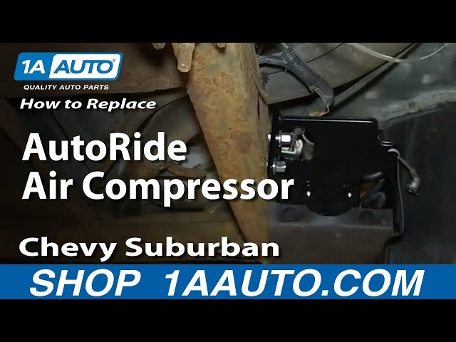 How To Replace Rear AutoRide Air Compressor 2000 ... - YouTube