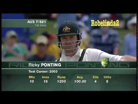 Ricky Ponting 242 vs India 2nd test 2003