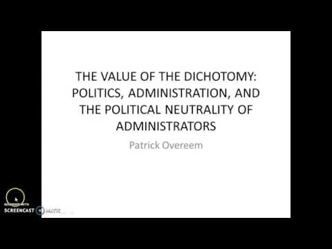 advantages of politics administration dichotomy