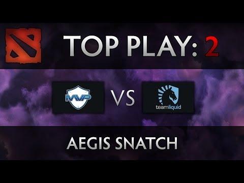 Dota 2 TI4 Top Play - MVP vs Liquid - Aegis Snatch
