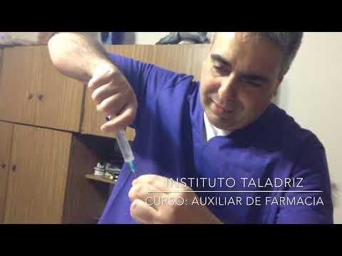 Aplicación de inyecciones. Dr. Sergio TALADRIZ - Farmacéutico.