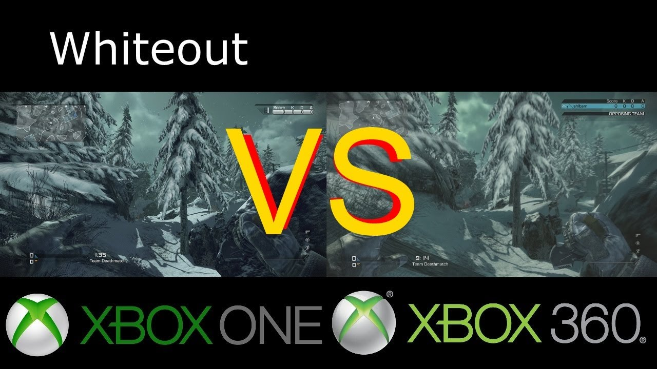 Xbox One VS Xbox 360 CoD Ghosts Graphics (Side-by-side ...