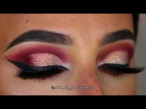 pictures Party Makeup: Pink Brown Cut Crease Eye Makeup Tutorial