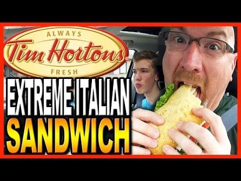 Tim Hortons ★ Extreme Italian Sandwich ★ with co-host Ben Domik