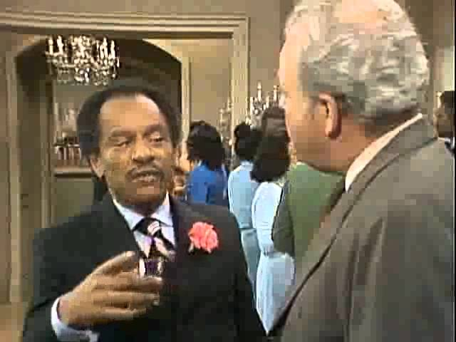 Classic George Jefferson and Archie Bunker - RIP Sherman Hemsley
