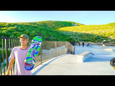 HIDDEN SKATEPARK IN THE MOUNTAINS!!