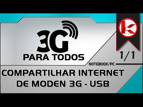 Como compartilhar internet 3g modem