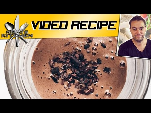 CHOCOLATE PEANUT BUTTER SMOOTHIE - Nicko's Kitchen