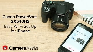 02. Connect your Canon PowerShot SX540HS to your iPhone via Wi-Fi