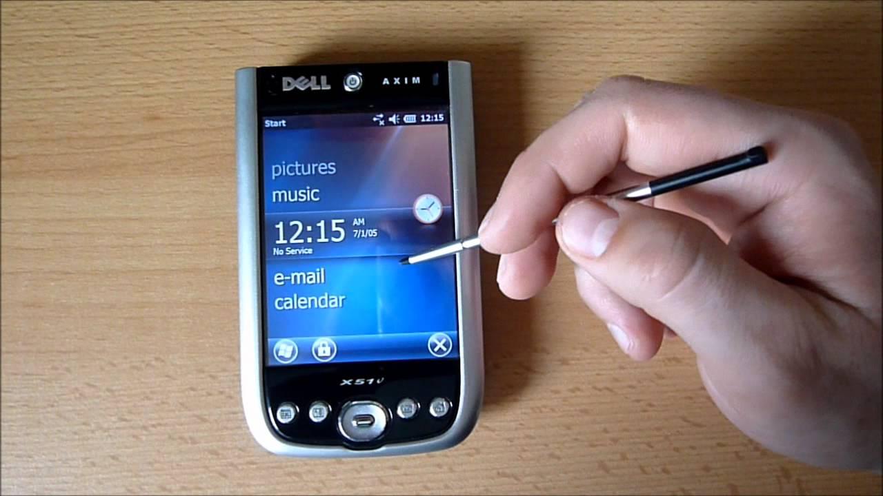 Dell Axim X51v Windows Mobile 6.5.5 L16 build 23559 Beta ...