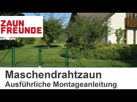 Maschendrahtzaun Montageanleitung - Ausführliches Video