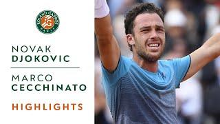 Novak Djokovic vs Marco Cecchinato - Quarterfinals Highlights I Roland-Garros 2018