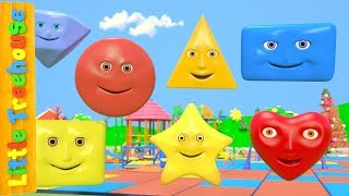 The Shapes Song | Learning Videos for Children | Cartoons for Babies By Little Treehouse