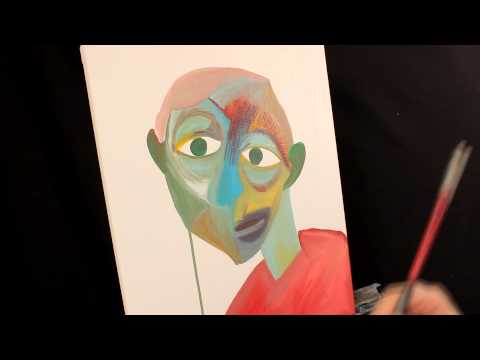 How To Paint like PICASSO Abstract ART Acrylic painting techniques by RAEART