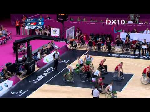 Wheelchair Basketball - CAN vs AUS 2012 Paralympic Gold Medal Game Highlights