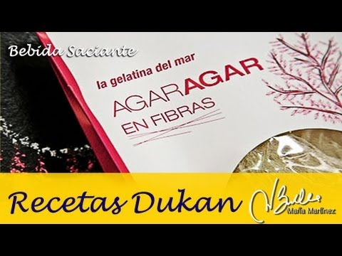 Adelgazar: Bebida saciante de Agar Agar de Esther (Dukan Ataque) / Kansen drink for Fast Weight Loss